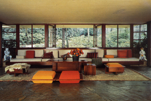 "F. L. WRIGHT, BEAR RUN: ""NATURE IS DRAWING INTO THE BUILDING"""
