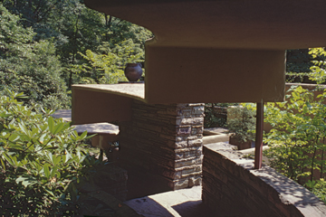 "F. L. WRIGHT, BEAR RUN: ""SHELTED STAIRS"""