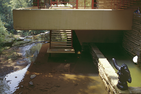 "F. L. WRIGHT, BEAR RUN: ""UNTOUCHABLE WATER"""