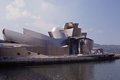 "F. GEHRY, BILBAO: ""SKYLINE FROM THE RIVER"""