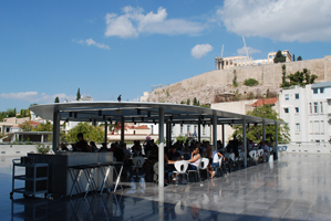 "B. TSCHUMI ATHENS: ""CAFÉ ON TERRACE LOOKING FOR ACROPOLIS"""