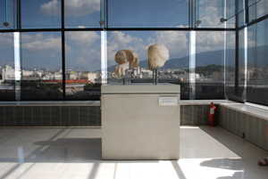 "B. TSCHUMI ATHENS: ""FROM THE WEST PEDIMENT OF THE PARTHENON"""