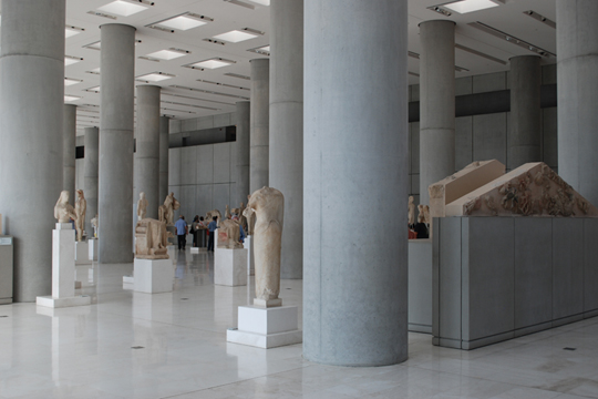 "B. TSCHUMI ATHENS: ""THE ARCAIC ACROPOLIS GALLERY MIDDLE FLOOR"""