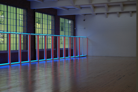 "R. IRWING, BACON NY: ""DAN FLAVIN FACE TO WINDOWS"" (untitled, 1970)"