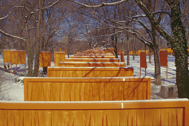 "CHRISTO AND JANNE-CLAUDE, NEW YORK: ""RUNNING PANELS"""